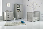 STAMFORD MINI COT BED 3 PIECE ROOM SET - WARM GREY