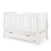 STAMFORD LUXE SLEIGH COT BED - WHITE (FREE POCKET SPRUNG MATTRESS)