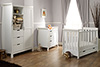 STAMFORD MINI COT BED 3 PIECE ROOM SET - WHITE