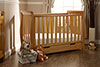 LINCOLN MINI SLEIGH COT BED - COUNTRY PINE