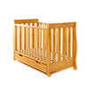 STAMFORD MINI SLEIGH COT BED - COUNTRY PINE (FREE SPRUNG MATTRESS)