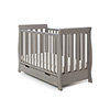 STAMFORD MINI SLEIGH COT BED - TAUPE GREY <BR>(FREE SPRUNG MATTRESS)