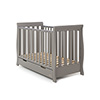 STAMFORD MINI SLEIGH COT BED - TAUPE GREY (FREE SPRUNG MATTRESS)