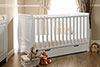 STAMFORD SLEIGH COT BED - WHITE