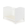 OBABY WHITBY COT BED - WHITE (FREE FOAM MATTRESS)