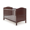 OBABY WHITBY COT BED - WALNUT (FREE SPRUNG MATTRESS)