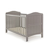 OBABY WHITBY COT BED - TAUPE GREY (FREE FOAM MATTRESS)