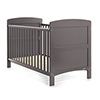 GRACE COT BED - TAUPE GREY (FREE FOAM MATTRESS)