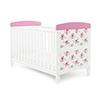 GRACE INSPIRE COT BED - COTTAGE ROSE (FREE FOAM MATTRESS)