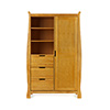 LINCOLN SLEIGH WARDROBE - COUNTRY PINE