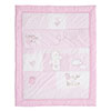 B IS FOR BEAR QUILT & BUMPER 2 PC SET - PINK