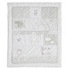 B IS FOR BEAR QUILT & BUMPER 2 PC SET - WHITE